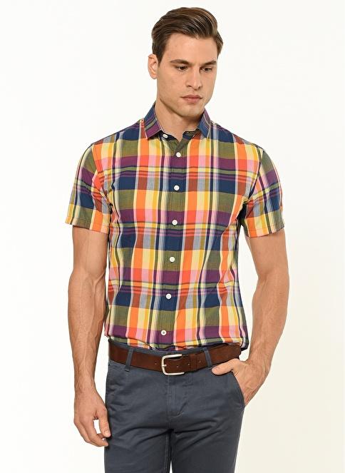 Dockers Kısa Kollu Kareli Gömlek Renkli